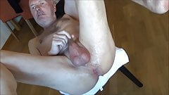 Lady fuck Ulf Larsen with strap-on's Thumb