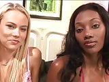BLEACHED: Ebony and blonde share a white cock BWC Black