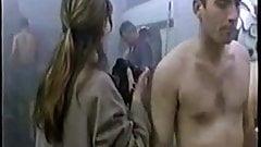 Nude room female reporter Cfnm locker