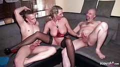 Husband Share his German Wife Jenny with Friend in 3some