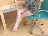 Elsa Has Fun in Office With Her Assistant Who Worships Feet