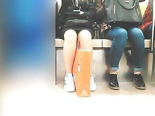 Girl's sexy legs in metro 11