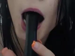 Brunette bent over while exposing her hot asshole