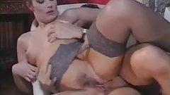 Maeva fucking in grey stockings