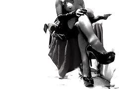 Kinky Erotic Crossdresser has a play in stockings and heels