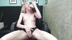 BRUTAL blonde deepthroat gagging sloppy facefuck whore