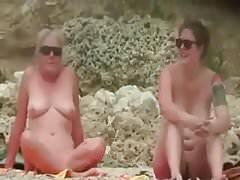 Nude Beach - Two MILFs