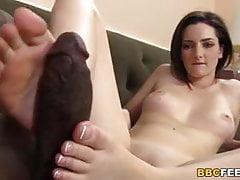 Tegan Mohr Gives Footjob to Black Cock