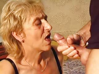 Hairy Granny Gets Pounded Hard By A Young Dick