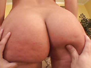 Big butt euro girl takes 2 cocks