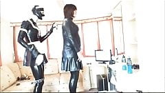 Rubberkate Polishes her Tranny Mistress