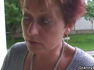 Hot looking guy fucks old granny neighbour