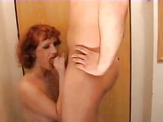 Redhead mom plays with her Son's friend-REAL