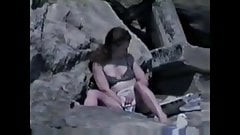 Fingering pussy at beach (nonude)