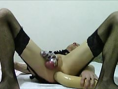 Big-Bang Sissy-Slave, Huge Dildo