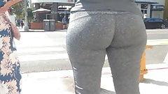Grey leggins Curvy ASS Latina