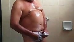 Mexican dad showering