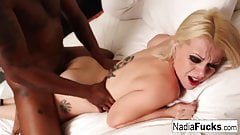 Nadia White teases you