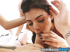 Reality teen face jizzed