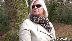 Blond grandma seduces stunning babe into lesbian sex