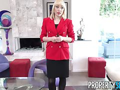 PropertySex - Agent in red blazer fornicates in mansion