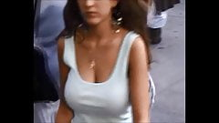 Candid Boobs: Slim Busty Hispanic Woman 8