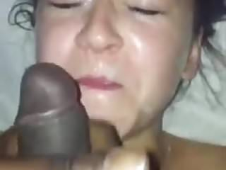 Interracial Girlfriend Facial