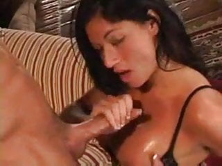 Another Gorgeous Black Hair Chick Strokes The Cock