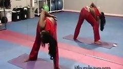 Nilou Achtland-Amateur Sexy Ass Yoga Flexing & Gym Workout