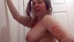 Sexy blonde twerking and singing