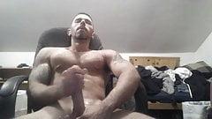 Str8 jerking watching porn