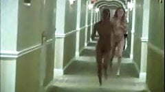 Two Naked Lesbians In A Hotel
