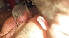 Dad enjoy Delicious breakfast hairy ass