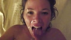 Happy Slut Loves Huge Cum Facial !!