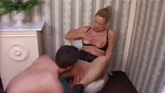 German Mature seduces a young guy