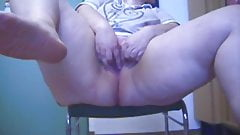 Office girl masturbates and pees in office