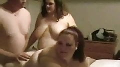 2 bhm and a bbw threesome