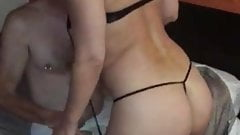 My wife stripping and turned on by another man
