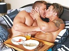Boyfriends in blankets - Bryce Evans, Landon Conrad