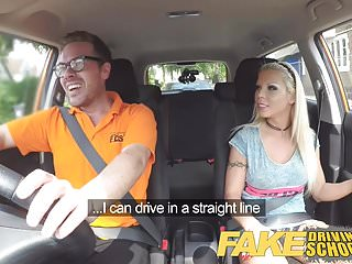 Preview 2 of Fake Driving School Barbie earns her pass with a huge facial