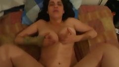 Fucking my busty lover in every hole with anal creampie