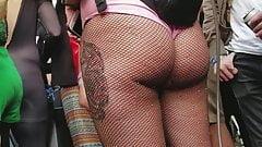 Voodoo Fest Creep Shots blonde ass out pink leotard thong