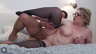 Dirty mature mothers seduce lucky sons