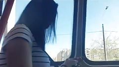 spy bust teens girl in tram romanian