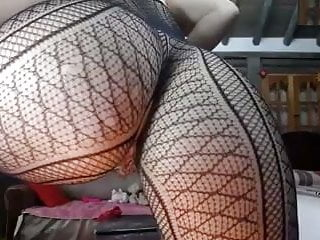 Big round fat ass butt dripping wet creamy pussy in lingerie