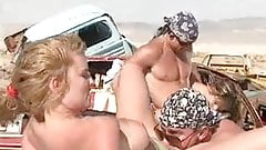 rock stars fuck horny fans pussys at desert with rocks