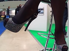 Sexy Shoes In Black Stockings