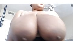 HugeTaTas69 huge ebony tits topless