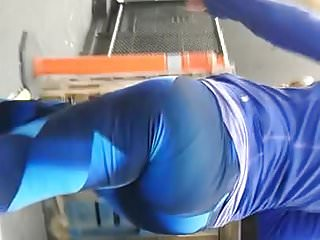 Tall Slim Candid Booty In Blue Pt.1