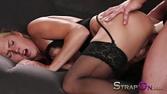 StrapOn Double penetration strap on paradise for blonde